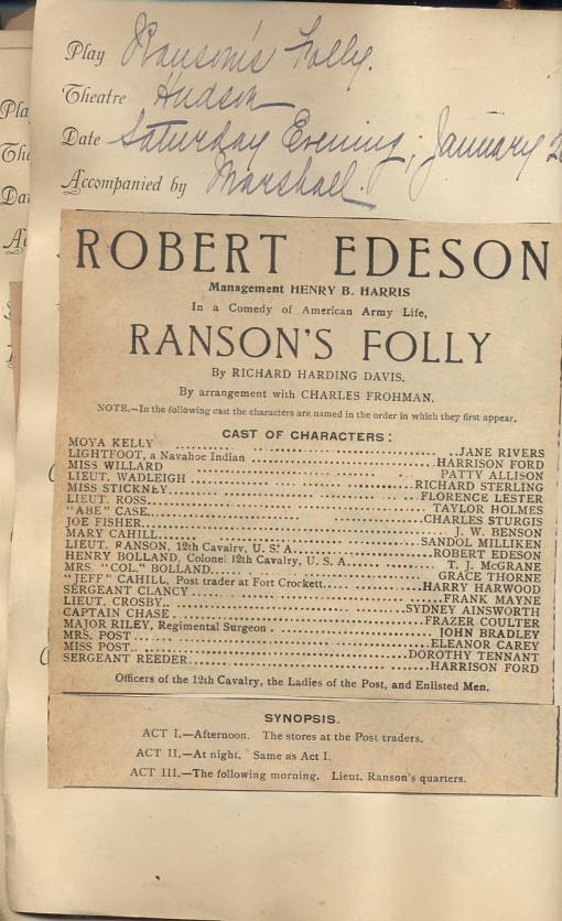 Playbill for Ransom's Folly