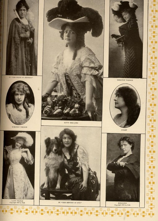 Photos of Bertha Galland in different roles