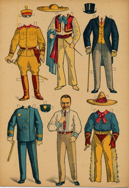 A  paper doll of Douglas Fairbanks-later in his career.