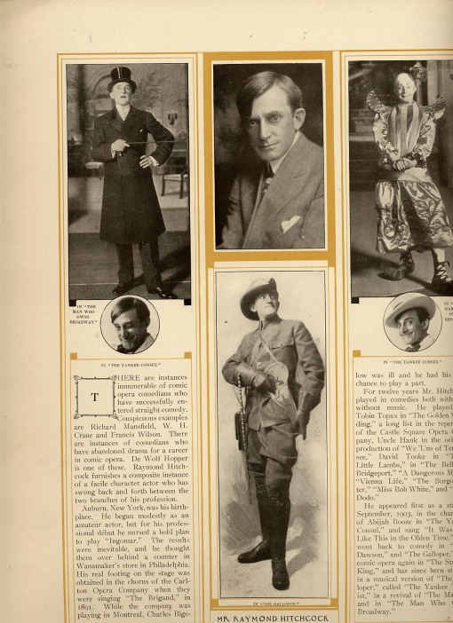Pictures of the actor, Raymond Hitchcock