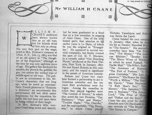 Information about William Crane