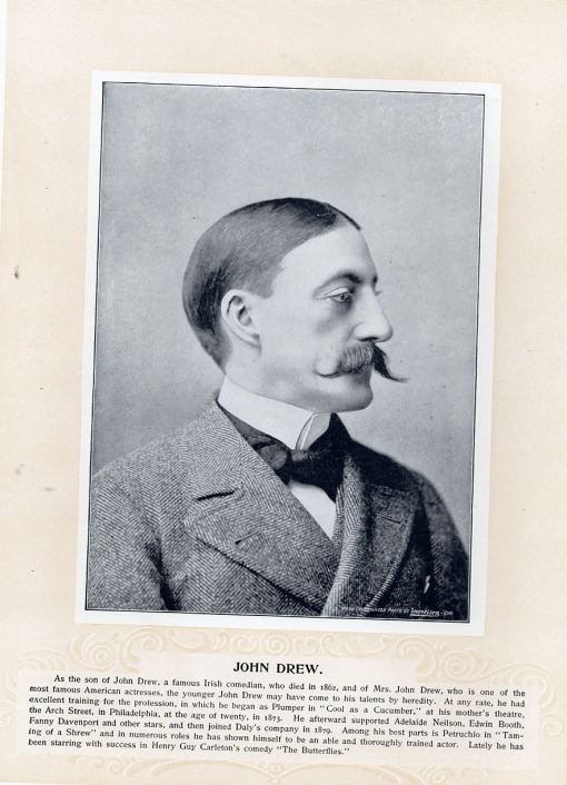 Brother of Georginna and son of Mrs. John Drew.