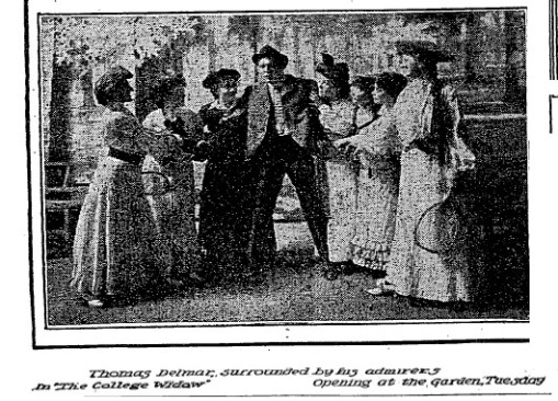 Newspaper photo from the play, College Widow