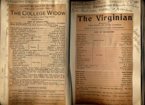 College Widow and The Virginian